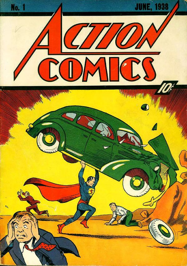 Comic Coverage Cover To Action Comics 1