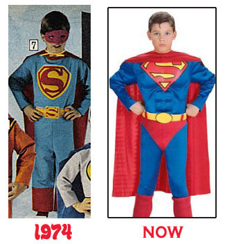 ... jammy-costumes and creepy  old man face  plastic-masks. Letu0027s do a side-by-side comparison of the 1974 Superman costume with readily-available versions ...  sc 1 st  Comic Coverage - Typepad & Comic Coverage: 21st Century Advancements: Cool Costumes!