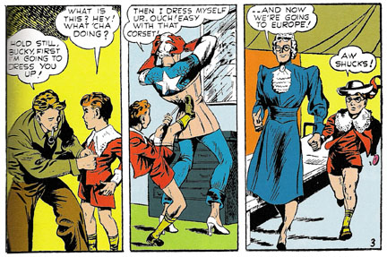 Comic Coverage Captain America Cross Dressing For Freedom